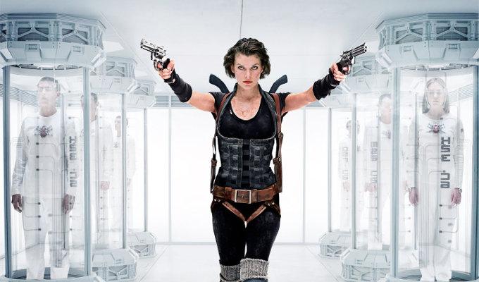 Milla Jovovich en Resident Evil.
