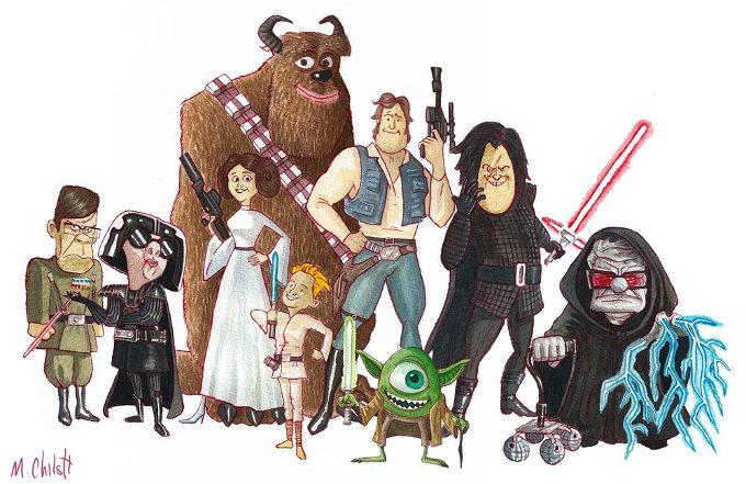¿Y si mezclamos Pixar con Star Wars?