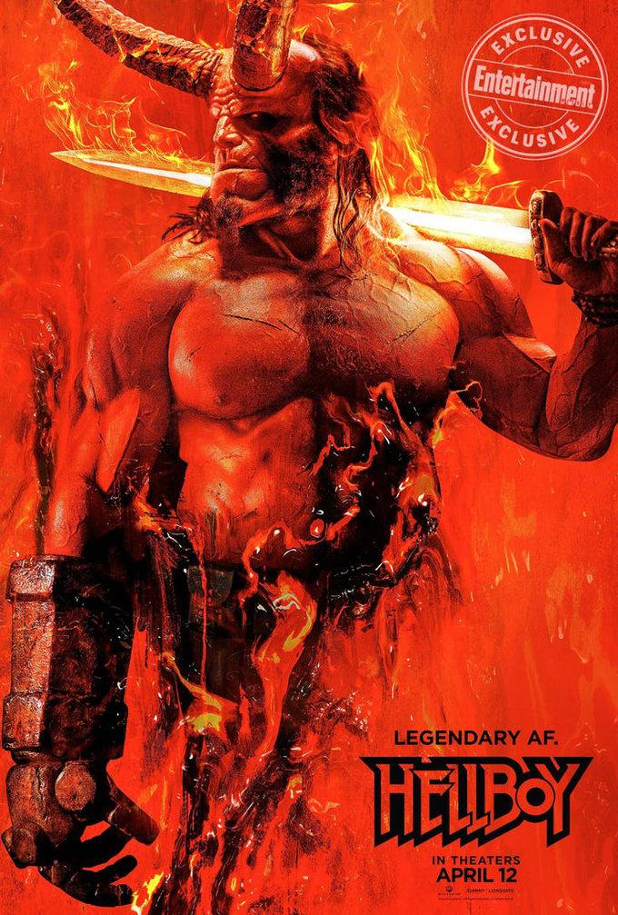 Un vistazo a Hellboy con su nuevo póster