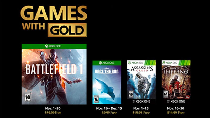 Games With Gold Para Noviembre 2018 Tierragamer