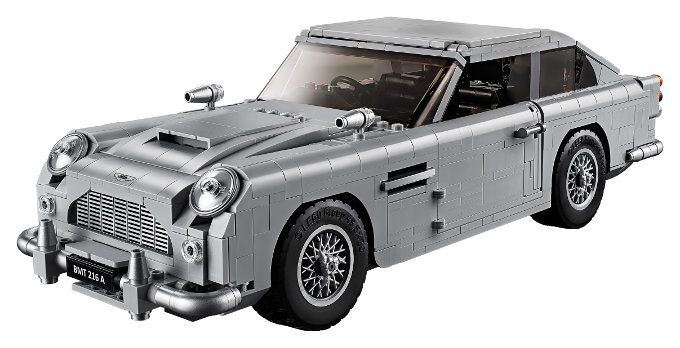 Un vistazo al Aston Martin DB5 de LEGO