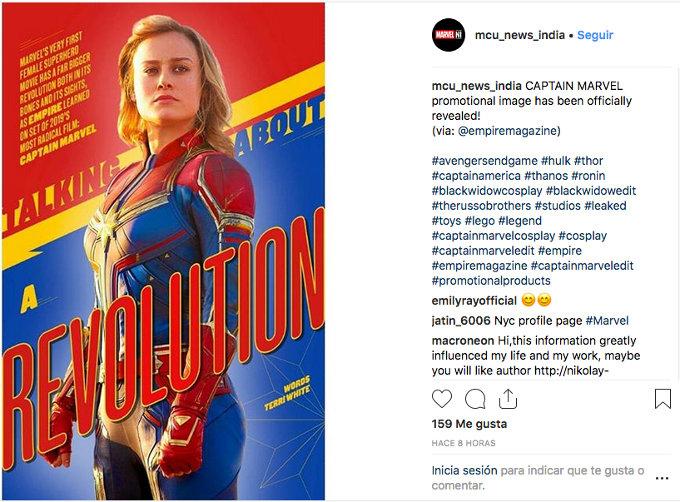 Captain Marvel estrena nuevo promocional