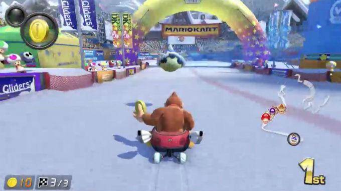Mario Kart arruinó su récord con un caparazón azul.