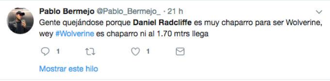 Daniel Radcliffe Wolverine altura