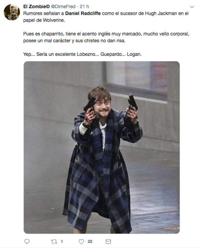 Daniel Radcliffe Wolverine Similitudes