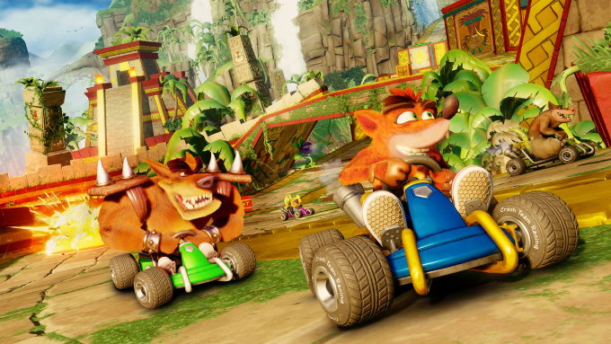 Crash doblaje en español y contenido de Crash Nitro Kart