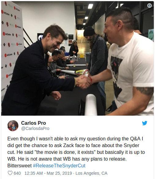 Resurge la idea del Snyder's Cut de la película de la Liga de la Justicia debido a una serie de supuestas declaraciones de Zack Snyder.