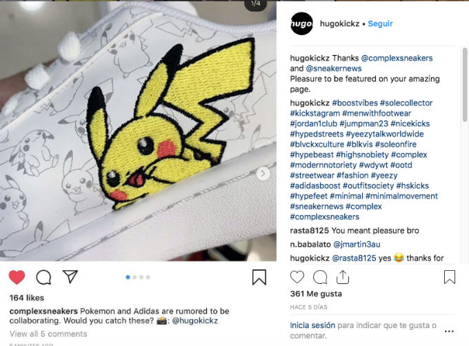 Tenis Adidas de Pokemon