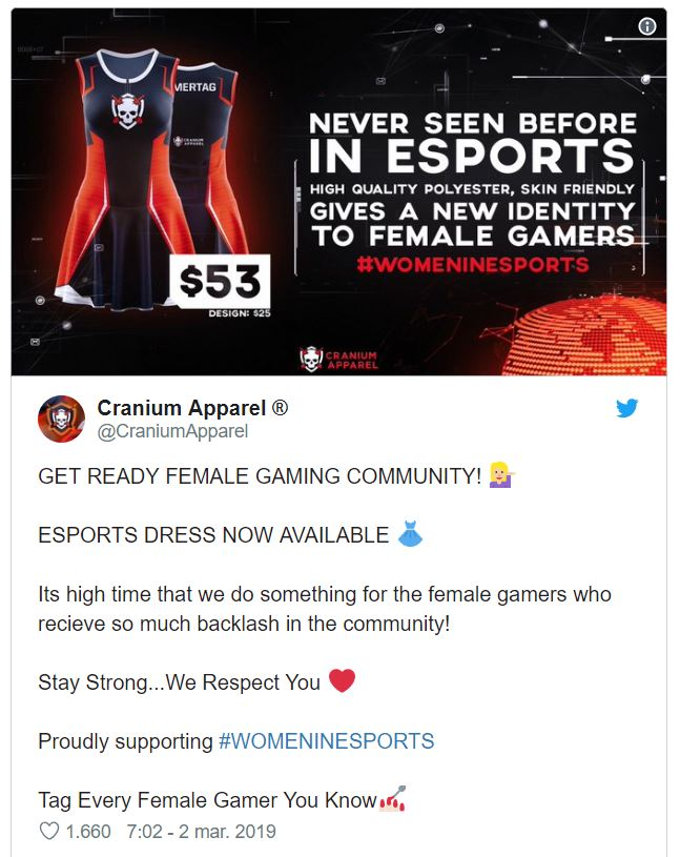 Equipo de esports desata controversia por uniforme considerado machista