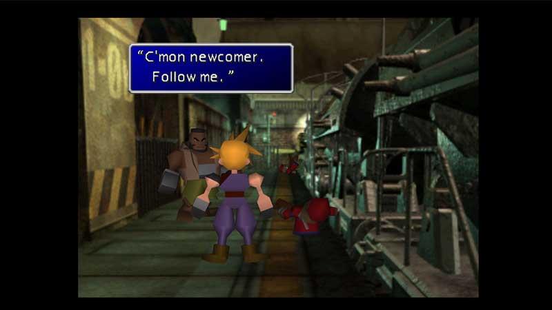 Cloud y Barret en Final Fantasy VII