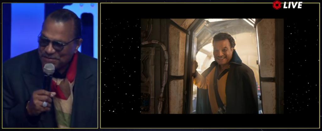 Billy Dee Williams volvió a usar el atuendo de Lando Calrissian.