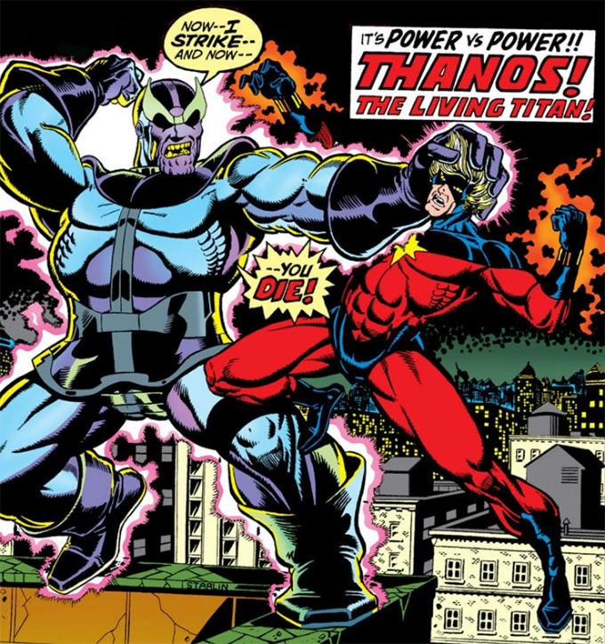 Captain Marvel Derrotó  a Thanos