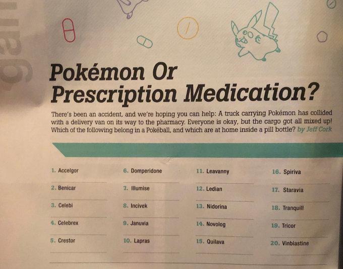 ¿Pokémon o medicina? El nuevo reto viral que no vas a superar