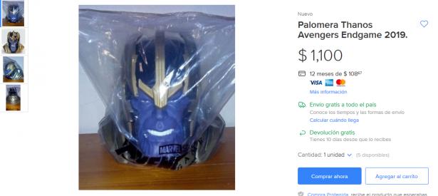 ¿Habrá quien pague  mil pesos por una palomera de Avengers: Endgame?