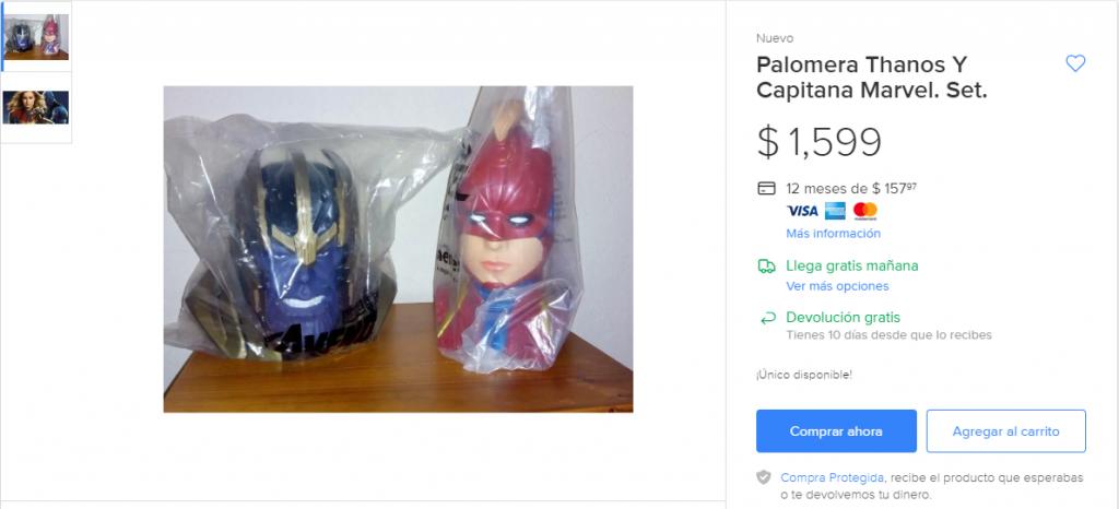 También hay otro oferton con la palomera de Capitana Marvel.