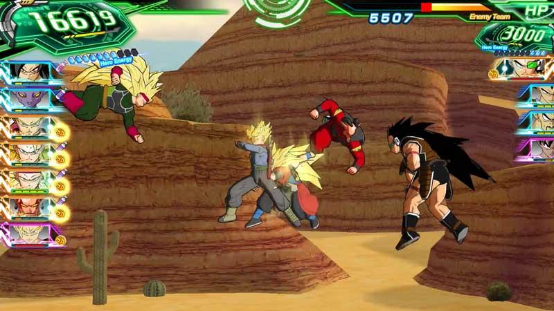 Los combates de Super Dragon Ball Heroes: World Mission son cortos