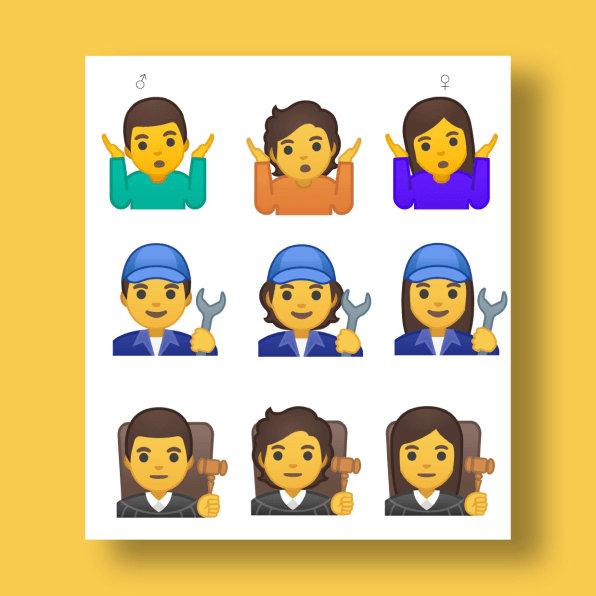 Los tiempos cambian: Android tendrá emojis de género ambiguo
