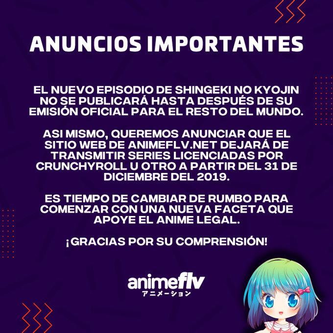 AnimeFLV dejará de transmitir series de Crunchyroll