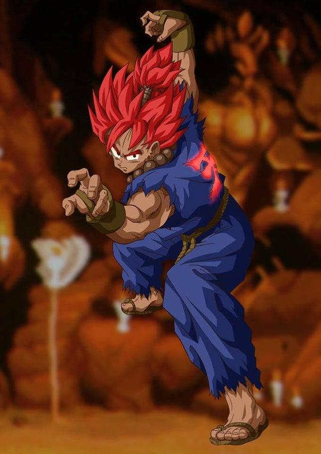 ¿Gokuma? Goku de Dragon Ball y Akuma de Street Fighter tienen una extraña fusión