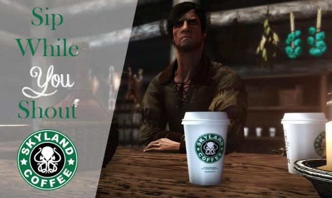 Como en Game of Thrones: Starbucks abre sus puertas en Skyrim