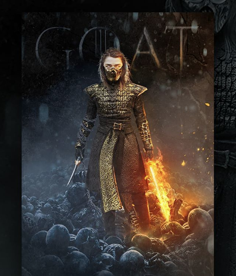 Así se vería Arya Stark de Game of Thrones en Mortal Kombat 11
