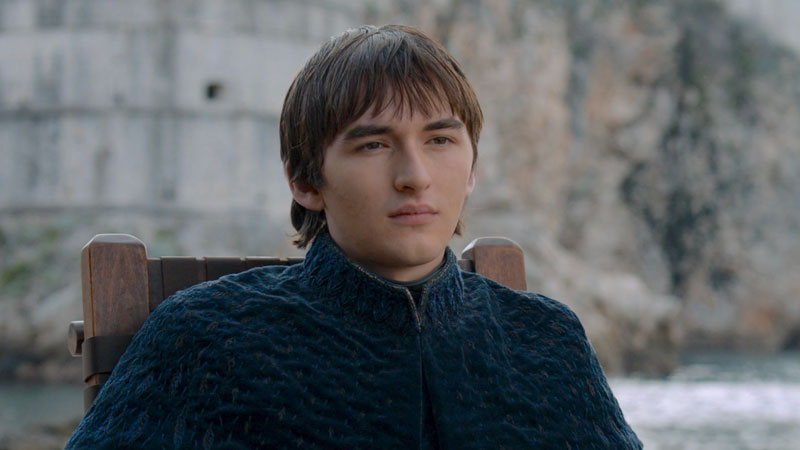 Bran Stark en el último episodio de Game of Thrones.