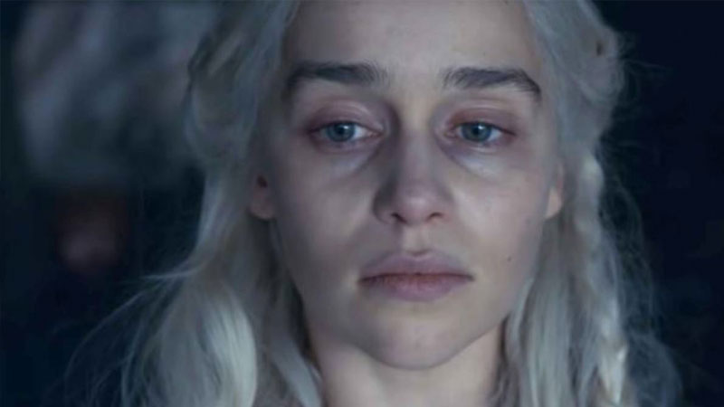 Así se vio Daenerys Targaryen en el penúltimo episodio de Game of Thrones