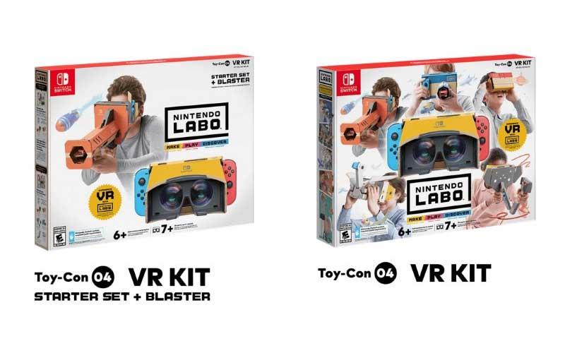 Las dos opciones de Nintendo Labo VR Kit a la venta