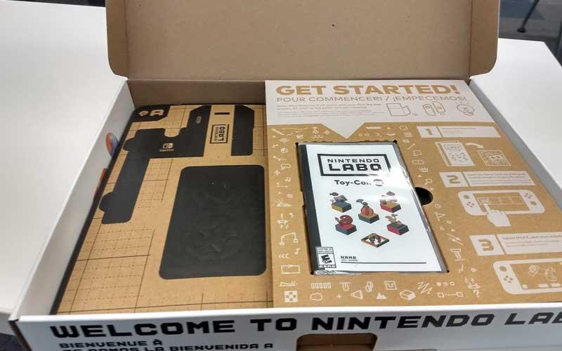 Así se ve el Toy-Con de Nintendo Labo cuando lo abres