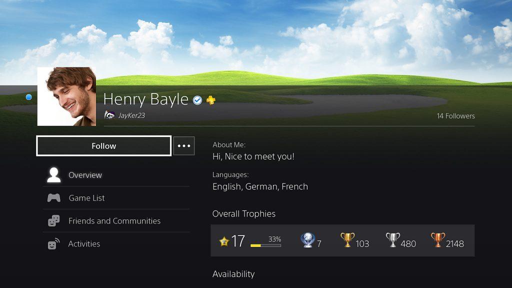 La interfaz de usuario del PS4
