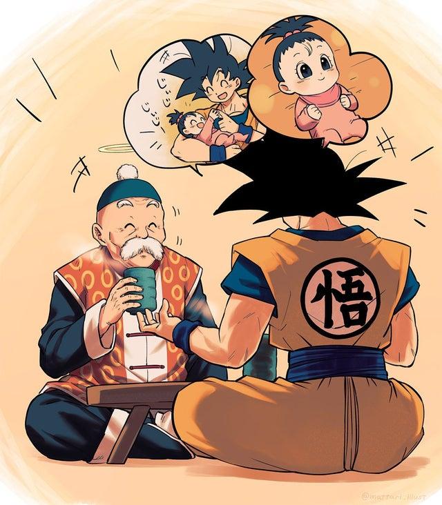 Dragon Ball: Así sería el emotivo reencuentro entre Goku y su abuelo