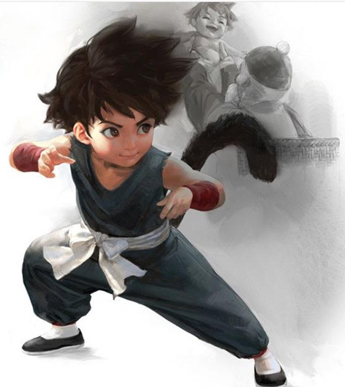Así se vería el pequeño Goku de Dragon Ball con estilo realista