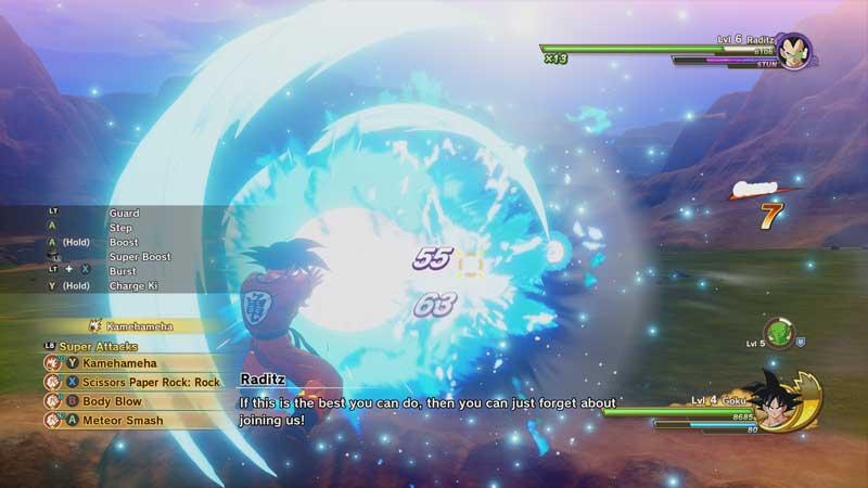 El sistema de combate en Dragon Ball Z Kakarot es básico, pero entretenido