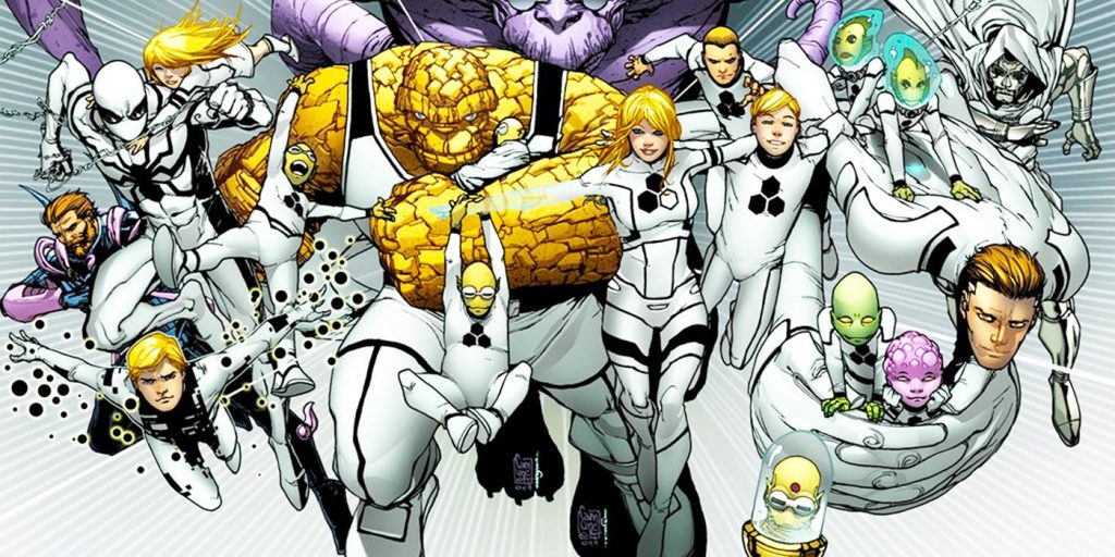 Spider-Man haciendo equipo con Future Foundation