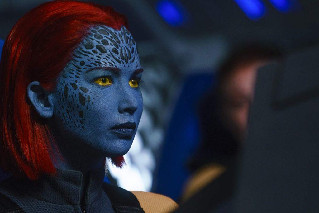 En esta película de X-Men se nota el cambio de bastón de Raven a Jean Grey
