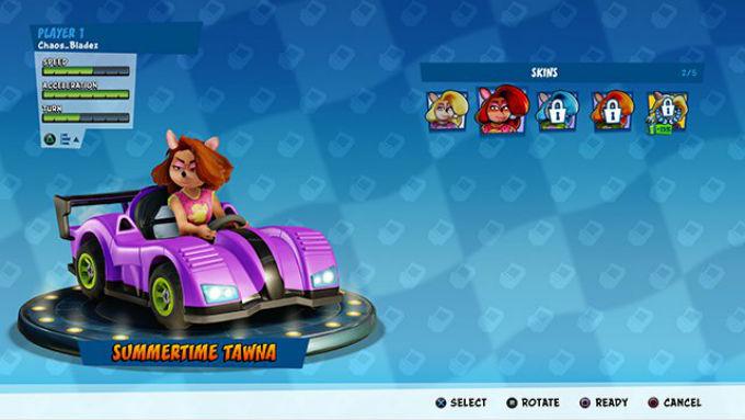 Crash Team Racing Summertime Tawna