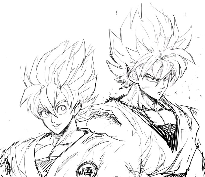 Así se vería Goku en el universo de One-Punch Man según su dibujante