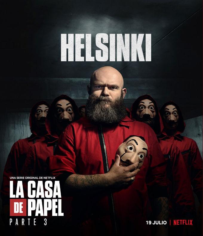 La Casa de Papel Temporada 3 Estreno Actor Helsinki