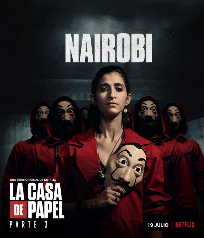 Estreno Casa de Papel Temporada 3 Actriz Nairobi