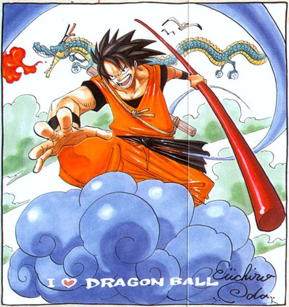 Así se vería Goku de Dragon Ball en el universo de One Piece