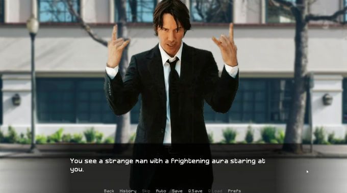 Keanu Reeves simulador Citas