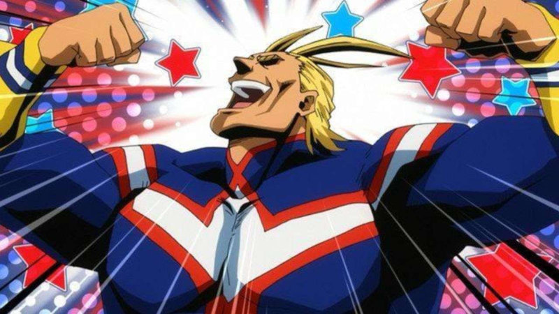 Un cosplay de All Might de My Hero Academia muy exótico