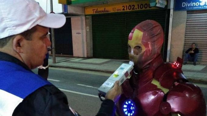 Iron Man Alcoholimetro