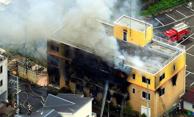 Kyoto Animation Incendio Provocado.
