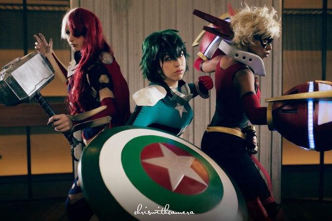 Los héroes de My Hero Academia convertidos en Vengadores