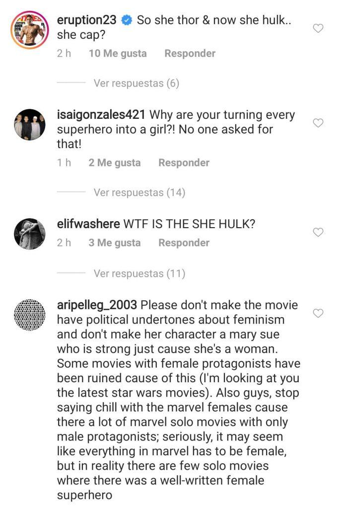 She-Hull opinión de fans en Instagram