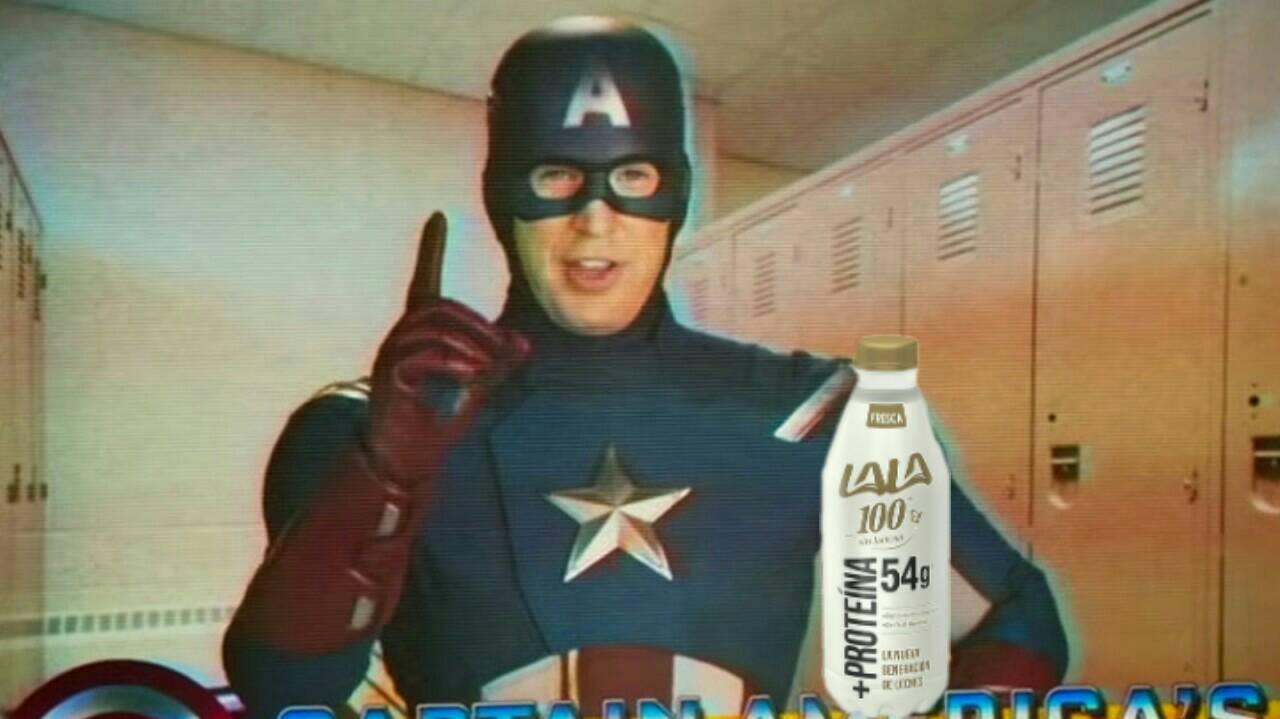 Memes Capitán América y Leche Lala