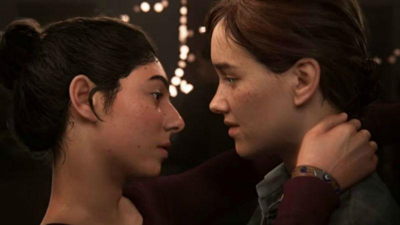 Representación lésbica de Ellie y Dina en The Last of Us Part II.