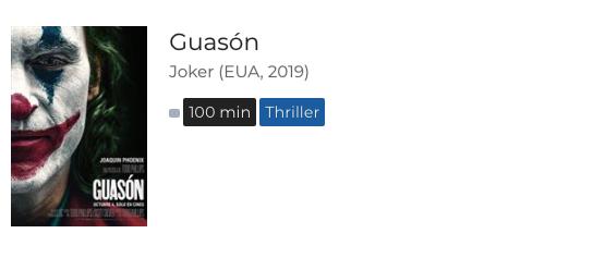 Guasón, descripción Cinépolis