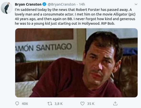 Breaking Bad y El Camino: Un reconocido actor falleció por cáncer
